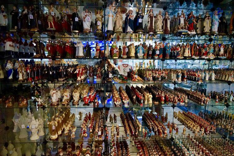 Full frame shot of multi colored bottles in store
