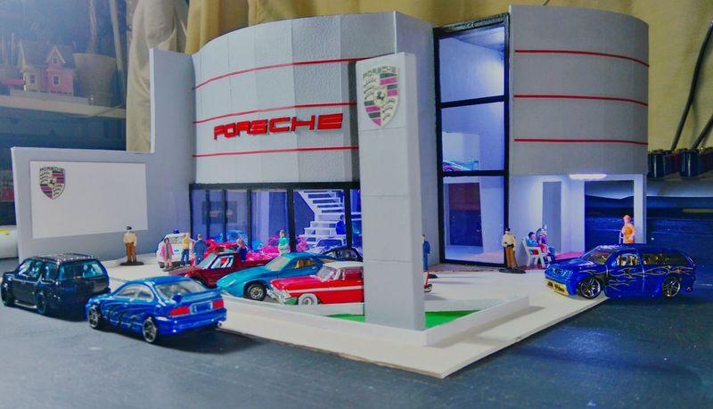 Porsche Diorama Dioramas Maquette Maquete Maqueta Building Maquette Maquetas HotWheels Collector