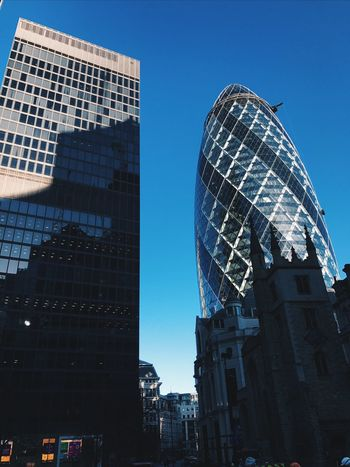 || The Gherkin || Architecture Building Exterior Built Structure Skyscraper City Tower Clear Sky Financial District  Modern Day Hipster London City Travel Tourism Modern Gherkin Tower Gherkin Gherkin Building