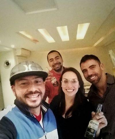 Muito bom receber em casa pessoas especiais. Cunhados queridos diretamente do Rio de Janeiro.