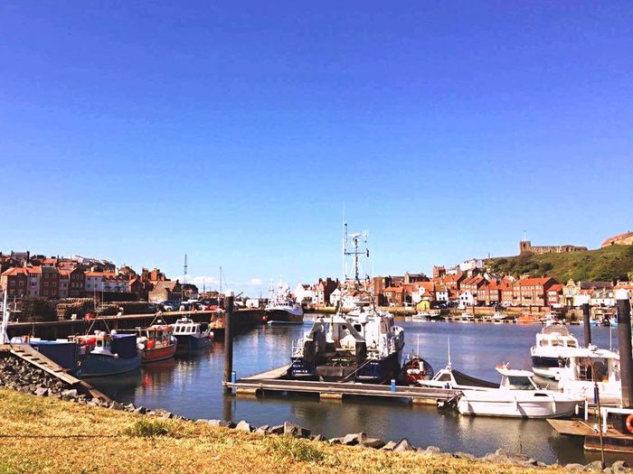 Whitby Water Clear Sky Harbour Harbour View Sun Summer