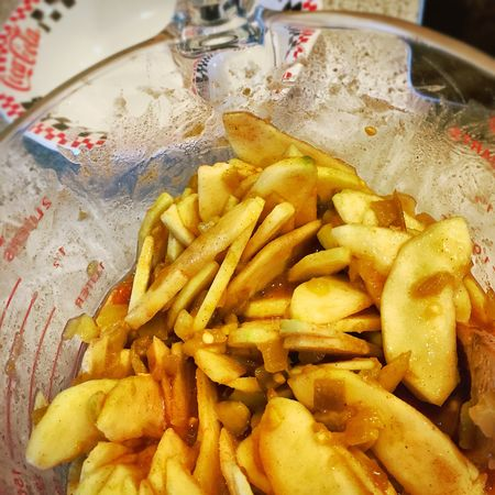 Making apple pie Food Close-up Food And Drink No People Indoors  Freshness Cooking Applepie Apples Apple Pie Mixing Bowl Mixing Ingredients