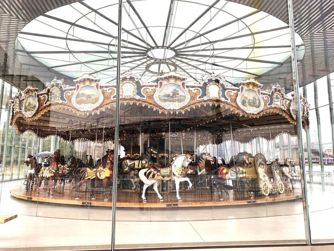 Built Structure Architecture Arts Culture And Entertainment Animal Representation Creativity Mammal Carousel Horses Nature Animal Hanging