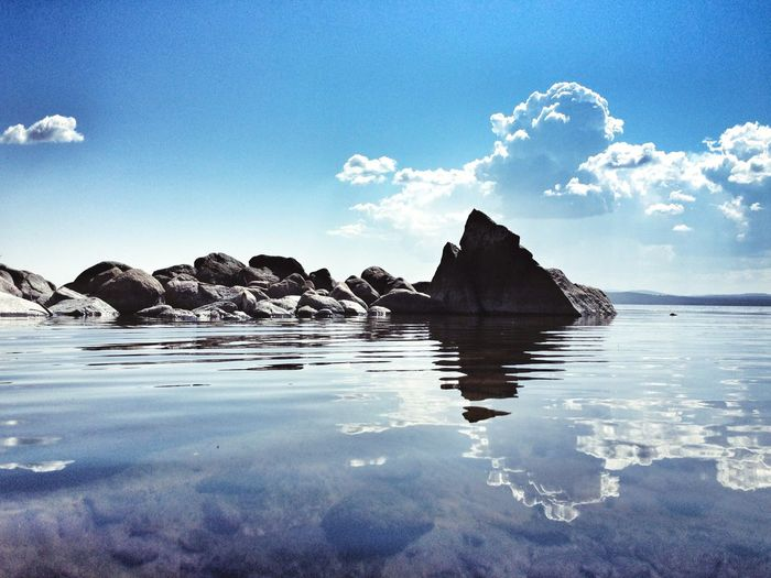 Nature Tranquility Beauty In Nature Sky Sea Scenics Water Rock - Object Tranquil Scene No People Beach Outdoors Day Blue