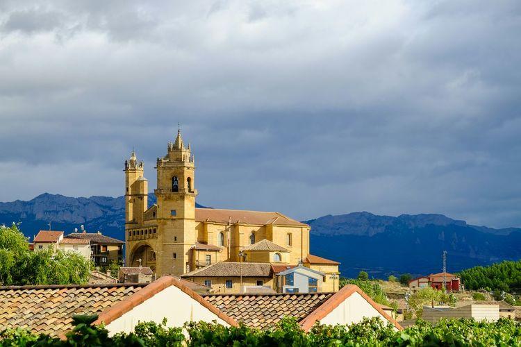 San Andres Church Against Cloudy Sky At Elciego
