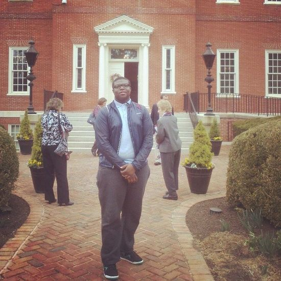 At the Maryland Governor's House.