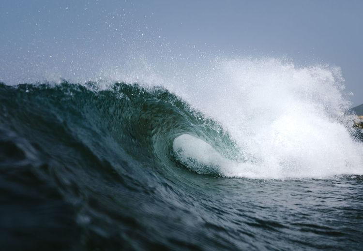 Wave breaking on a beach in tenerife