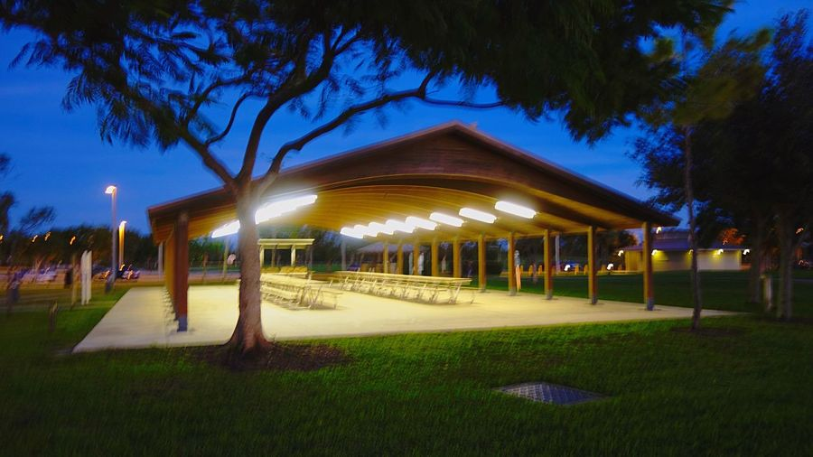 Picnic Table Pavilion For Rent Park Night Tree Grass Illuminated Beauty In Nature Nature No People Architecture Outdoors Sky Growth Building Exterior Rethink Things