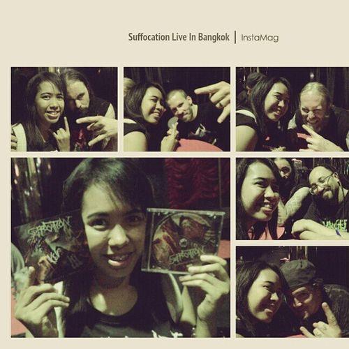 ได้ลายเซ็นและได้ถ่ายรูปกับสมาชิกทุกคน เฮาะ! Suffocation MeetAndGreet BrutalMetal Deathmetal Metalhead Bangkok Thailand. Hello World Enjoying Life Taking Photos Awesome