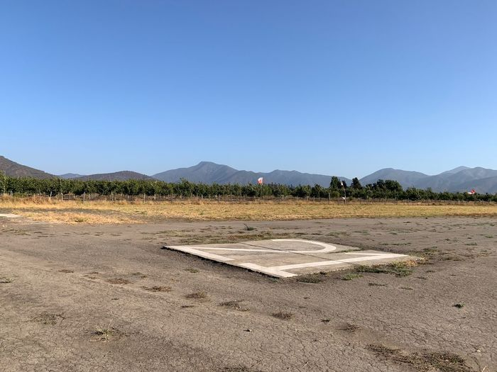 Aerodrome Casablanca South America Chile America Del Sur Sky Land Mountain Clear Sky Copy Space Tranquil Scene Nature Tranquility Day Scenics - Nature Beauty In Nature No People Landscape Environment Outdoors Sunlight Plant