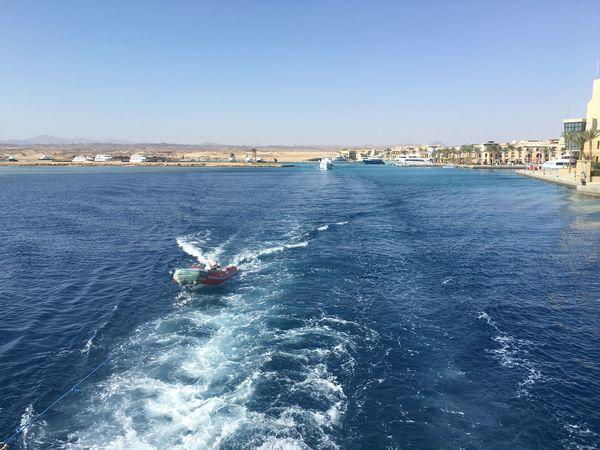 Splash time! Water Boat Egypt RedSea Snorkeling Boat Ride Nofilter