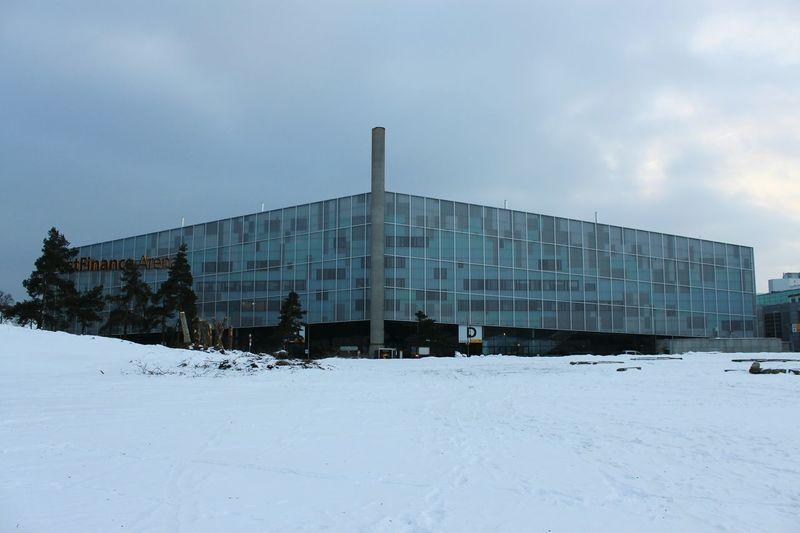 Winter Snow Cold Temperature Eishockey Architecture Building Exterior HJB Stadion Architecture Architecture_collection No People Bern, Switzerland Postfinancearena SC Bern