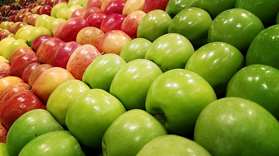Apples (Color) Apples Fruit Color Colorphotography Red Green Redandgreen Depth Of Field Shadows Grocerystore Circles Shapes And Textures Shapes Backgrounds Full Frame Food Foodphotography Autumn Fall Harvest Perspective Visual Feast Premium Collection