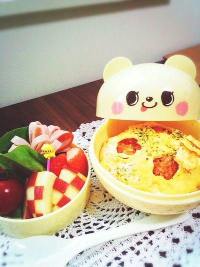 お弁当🍱 お弁当 Bento Lunch Omurice Fruits Foodporn Food Bento Box べんとー Enjoying A Meal