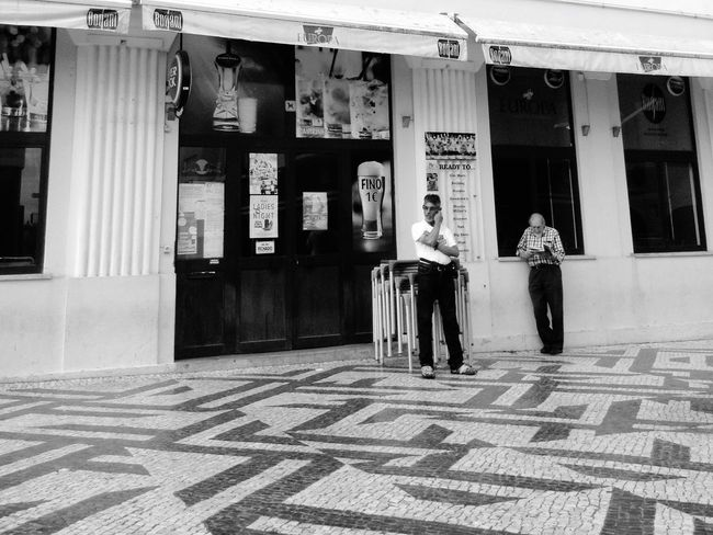 Streetphotography Black & White Street Photography People Watching Portuguese Pavement Blackandwhite Photography Walking Around The City