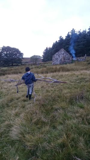 Collecting firewood Wild Camping Camping Harbottle Crag Firewood Northumberland Tumbledown Farmstead The Purist (no Edit, No Filter) Hidden Northumberland North East England NORTHEASTENGLAND 2015 Uk Cheviots Cheviothills Northumberland National Park North East
