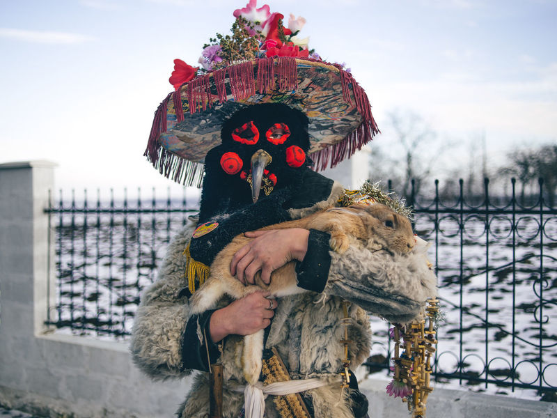 Member of carnival group from Lipnic village, Moldova. The Photojournalist - 2017 EyeEm Awards
