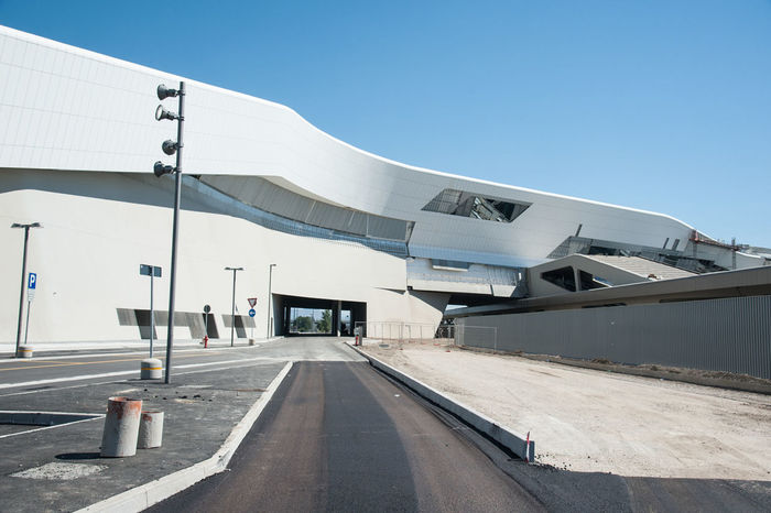 The project of the station, architect Zaha Hadid was officially presented on November 4, 2003. The new station has been compared in the railway sector to the Naples high speed-high capacity Parthenopean port, as it will accommodate all trains high speed that's not finishing their race in the Campania capital will be directed to other cities and therefore will not stop at Napoli Centrale Station. Afragola Architecture Architecture Built Structure Centrale Clear Sky Day Italy June Jungle Mayor Naples No People Outdoors Project Road Sky Station TAV The Way Forward Transportation Transportation Zaha Hadid First Eyeem Photo