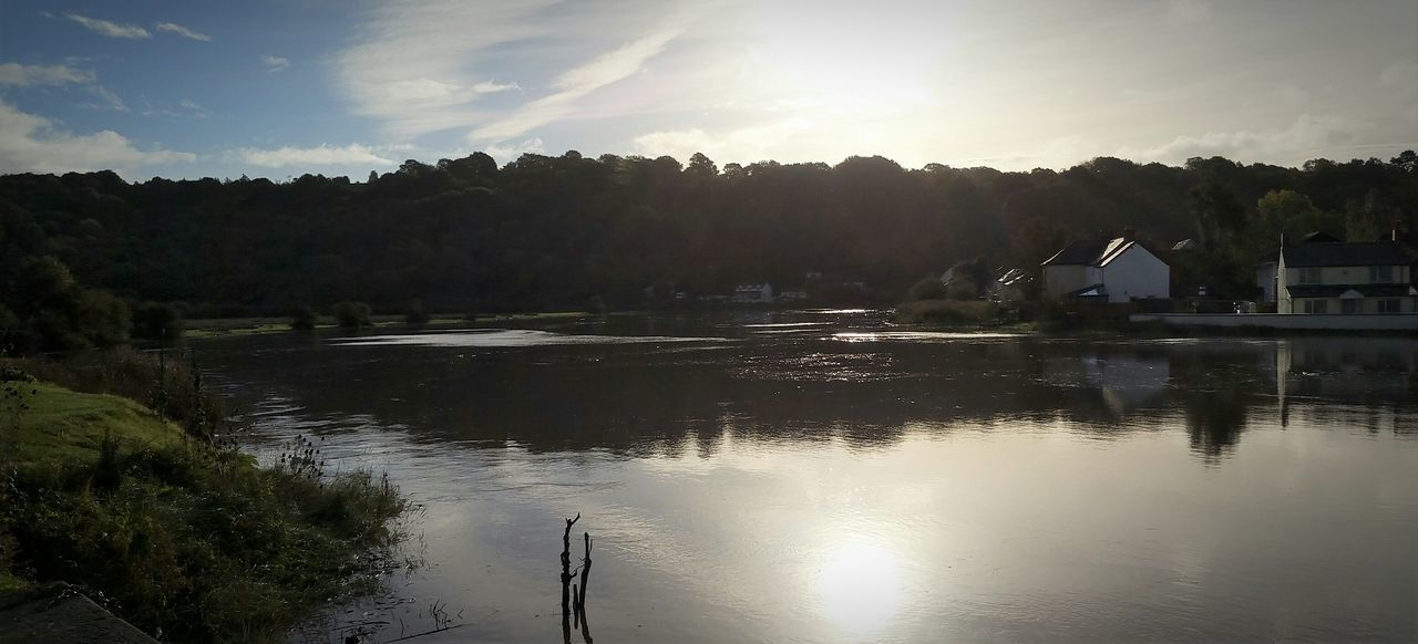 Gentle flow of the River Usk Landscape Reflection Water Outdoors River Riverbank Riverscape River View Beauty Of Nature High Tide Village Caerleon Wales