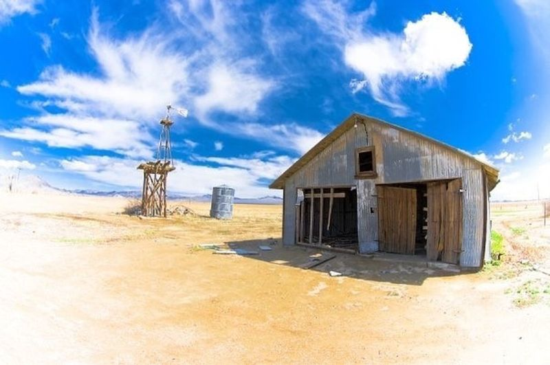 Old building Barn doors Wooden House California Lucernevalley Lucerne Valley windmill