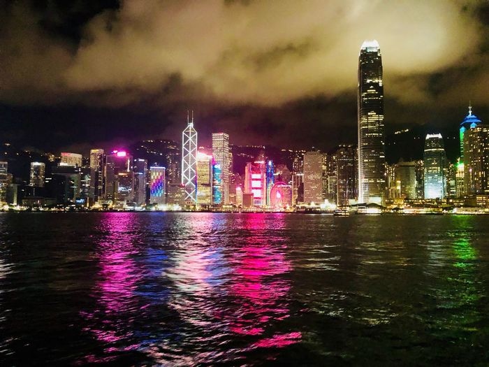 Hong Kong skyline at night Skyline View Travel Travel Destinations Urban Exploration HongKong Architecture Building Exterior Built Structure City Illuminated Building Office Building Exterior Water Skyscraper Urban Skyline Sky Cityscape Tall - High Night Cloud - Sky Waterfront Modern No People HUAWEI Photo Award: After Dark