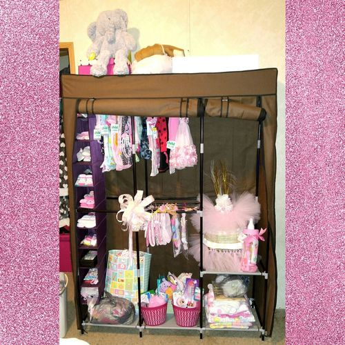 Fixed up baby girls closet last night. Very happy with it. 😍👶🎀👑 New Fabulous Happy Check This Out Hello World Popular Photos Itsagirl Closet Babyshowergifts