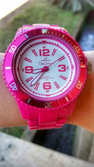 Time Wrist Watch Eight Unisilver Watch, Tiktok eight, unisilver, wrist, watch, clear, pink, hands of time, tiktok Clock Close-up No People Outdoors Day First Eyeem Photo