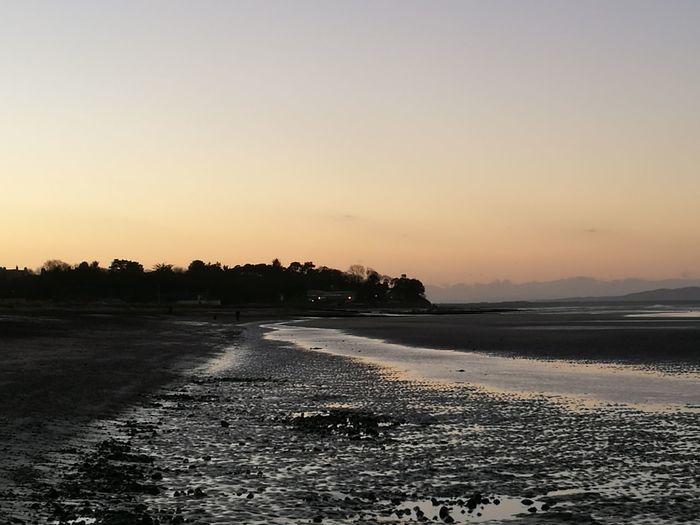 Beach Sunset Nairn Scotland Beach Nairn Sunset