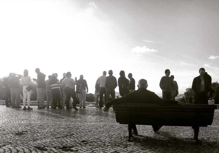 People Large Group Of People Adult Outdoors Silhouette Lisboa Portugal Lisboa🇵🇹 Close-up Travel Destinations P&B B&w Street Photography Real People Blackandwhite Outdoorphotography