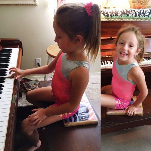 "The joy of music. ""I did it myself"" Piano Moments Learning Music Piano Piano Keys Musical Instrument Love Of Learning Girls Childhood Playing Nurturing Talent Playing Piano Making Music Student Classical Music Bigisland Hawaii"
