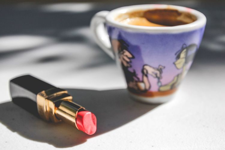 Coffee and lipstick - morning madness essentials Morning Sunshine Espresso Lipstick Table Drink Food And Drink Still Life Refreshment Focus On Foreground Close-up Cup Freshness No People Container Coffee - Drink Coffee Mug Coffee Cup Hot Drink Shadow High Angle View A New Beginning My Best Photo #NotYourCliche Love Letter My Best Photo