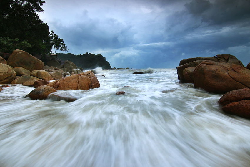 monsoon season Beach Photography Wave And Sand Beach Waves And Rocks Beauty In Nature Cloud - Sky Motion No People Travel Destinations Sky Outdoors