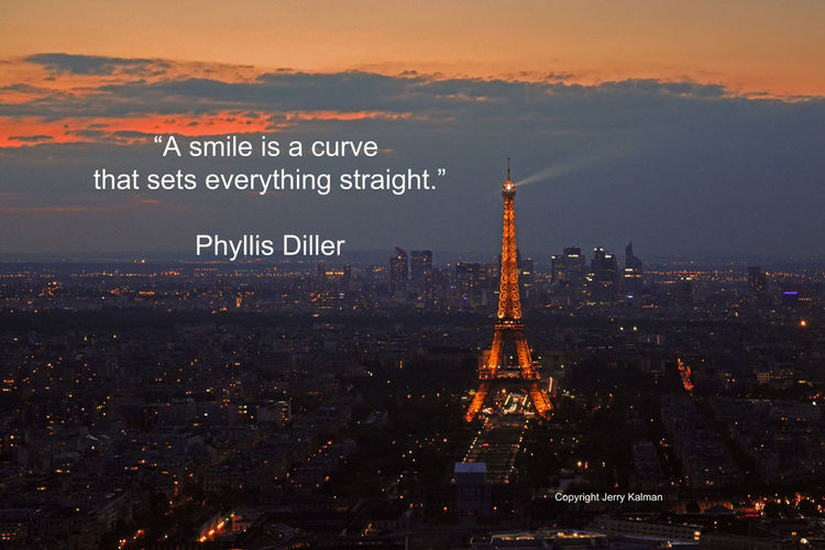 Today we celebrate the birthday of #GustavEiffel who designed and built the world famous #EiffelTower in #Paris. The #quote is by late comic #PhyllisDiller. If this #quotograph speaks to you, please #smile and #repost it. Eiffel Tower Gustav Eiffel Phyllis Diller Quotes Architecture Cityscape Quotograph Sky Sunset Travel Travel Destinations