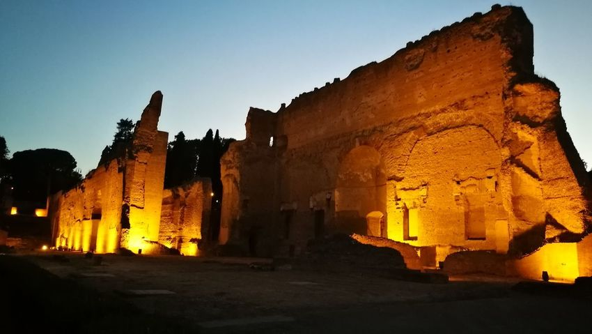 Old Ruin Architecture Travel Destinations History Night Outdoors Statue No People Nature Sky Architecture Building Exterior Ancient Civilization Roman Ruins Roman Architecture Roma, Italy Caracalla Terme Terme Di Caracalla