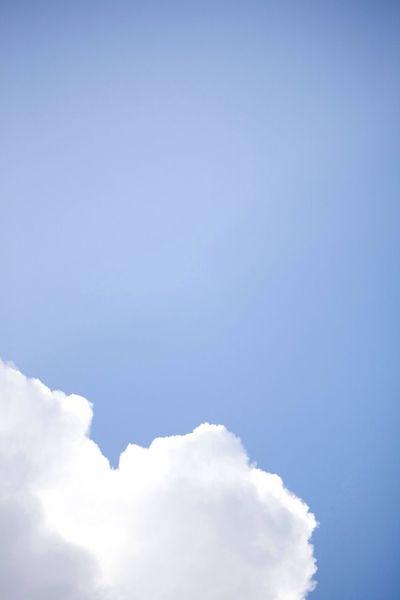 Clouds Sky Hello World Blue