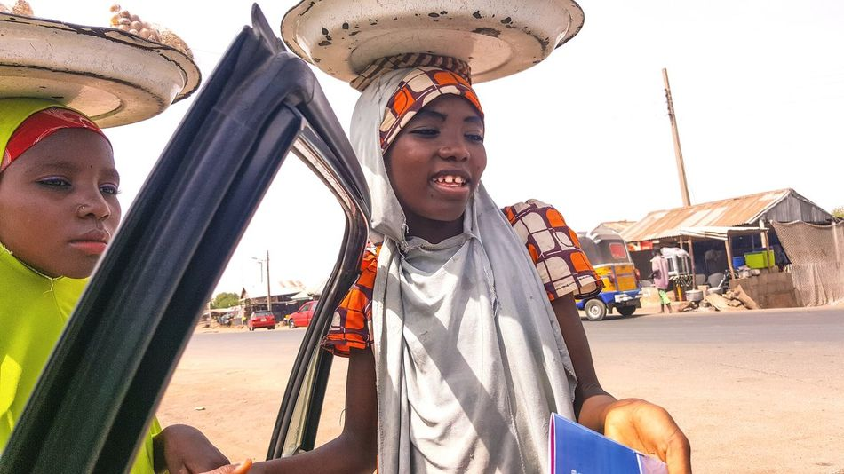 Happiness Smiling Cellphone Photography Women Around The World Africa Day To Day Northern Nigeria Girl Child Hawking Gombi