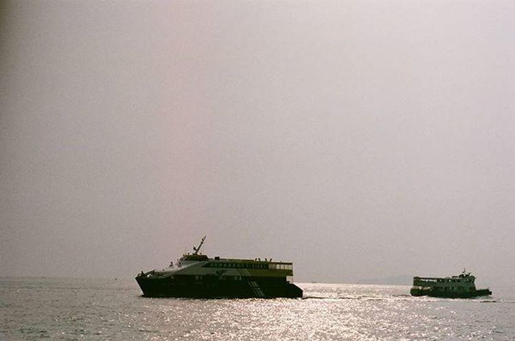 Minoltax700 Fujichrome Fuji業務用400 HongKong Hongkongsunset Sunset Lammaisland Boat Fishvillage