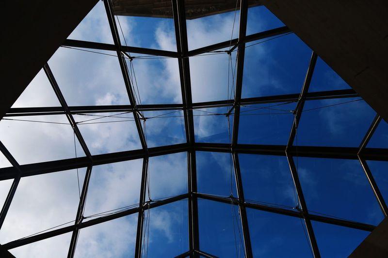 Musée du Louvre Musée Du Louvre Low Angle View Sky Built Structure Metal No People Pattern Architecture