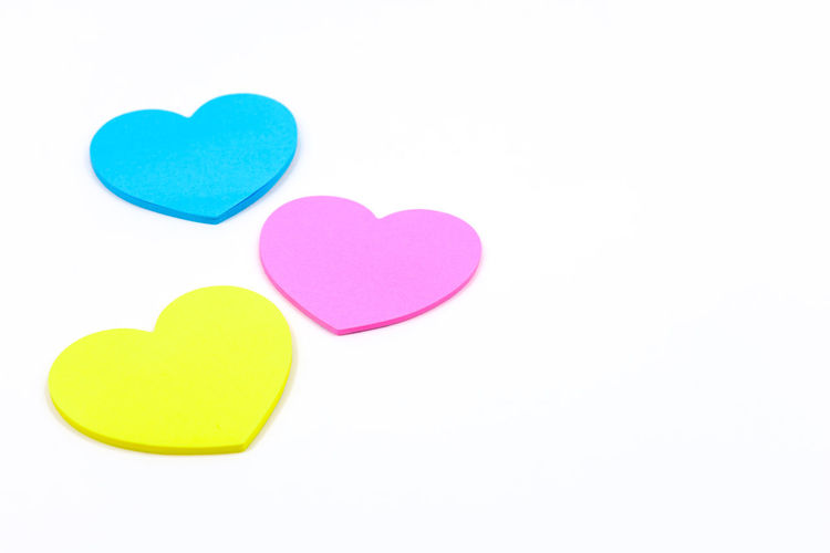Close-up of heart shape over white background