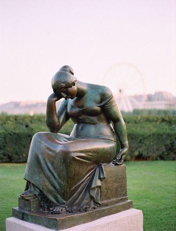 Paris Fuji400h EyeEm Statue Art And Craft Sculpture Human Representation Representation Male Likeness Creativity Outdoors No People