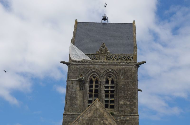France Frankreich ♥ Normandie Architecture Bell Tower Building Exterior Built Structure Cloud - Sky Day Fallschirmspringer Low Angle View No People Outdoors Place Of Worship Religion Sainte Mere-eglise Sky