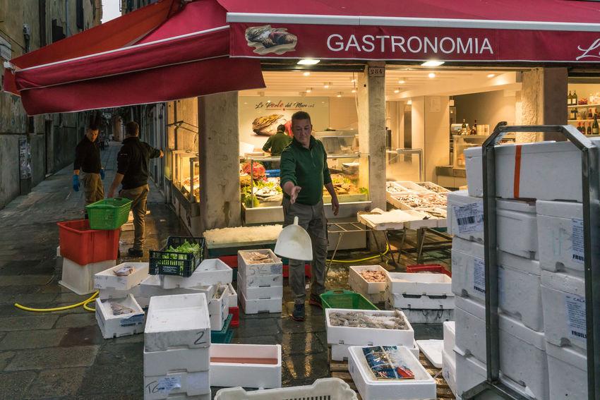Architecture Burano, Venice Colors Italia Market Travel Travel Photography Venezia Venezia, Italia Venice, Italy Burano Color Colorful Day Fish Market Italy Men One Person Outdoors People Photography Real People Rialto Market Streetscape Venice