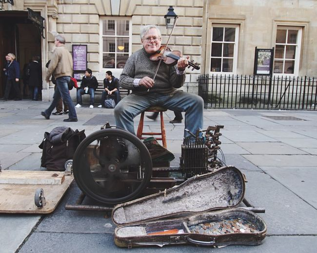 One-man band Onemanband Bath United Kingdom Streetphotography People Music Instruments Up Close Street Photography Feel The Journey TakeoverMusic