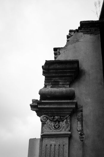 Architecture Sky Built Structure Low Angle View Building Exterior No People Day Nature Building Old History Outdoors Clear Sky The Past Art And Craft Close-up Religion Blackandwhite Balck And White Architecture LEICA M
