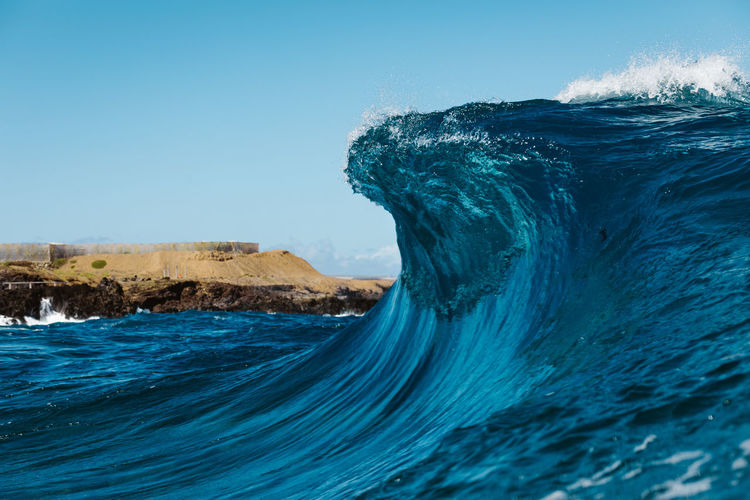 blue cave Water Sea Blue Motion Wave Nature Beauty In Nature No People Clear Sky Day Scenics - Nature Power Outdoors Power In Nature Breaking Turquoise Colored Wave Waves Waves, Ocean, Nature Waves Crashing Ocean Surf EyeEmNewHere EyeEm Best Shots EyeEm Nature Lover