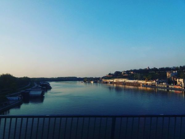 Belgrade, Branko's bridge, is the second-largest bridge of #Belgrade. #Belgrade #srbija Water Outdoors Sky Built Structure Blue Clear Sky No People Sunset City Nature Beauty In Nature Travel Destinations First Eyeem Photo