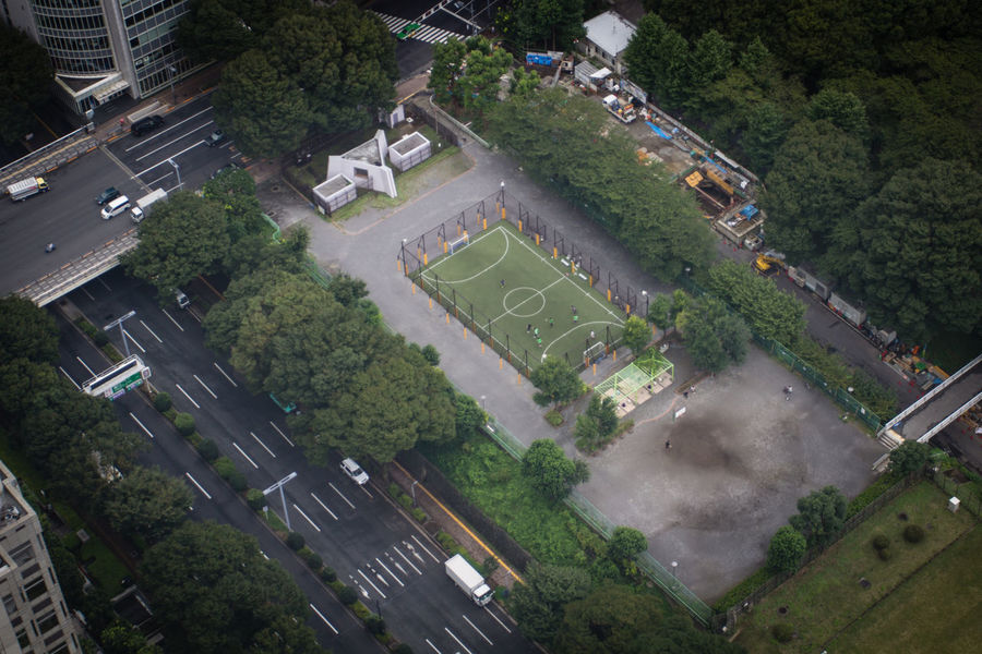Aerial view soccer/football field in Tokyo, Japan EyeEm Best Shots The Week On EyeEm City Cityscape Japan Outdoor Activity Aerial View Arial Building Exterior Built Structure Day Football Field High Angle View Outdoors Residential Building Road Roof Soccer Field Sports Town