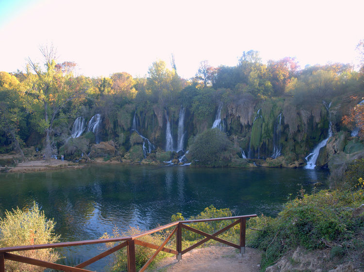 Wide view of the Kravice waterfalls in Bosnia Herzegovina Waterfalls And Calming Views  Beauty In Nature Day Kravica, Bosnia & Herzegovina Kravice Kravice Waterfalls Landscape Nature No People Outdoors River Scenics Tranquil Scene Tranquility Tree Water Waterfalls Waterfalls And Mountains Waterfalls💦