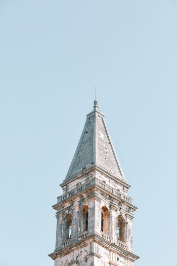 Low angle view of a building against clear sky