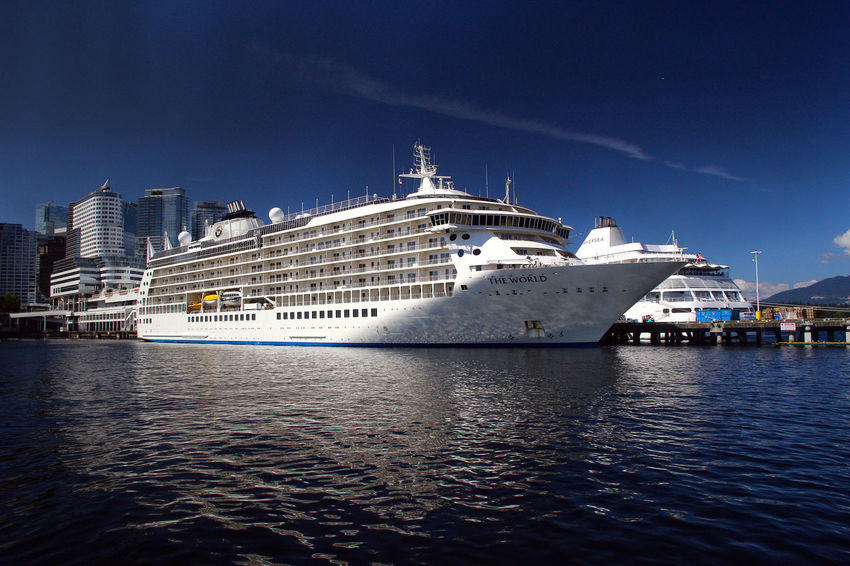 Canada Place cruise ship Nautical Vessel Sea Transportation Ship Sky Water Mode Of Transport Cruise Liner Blue